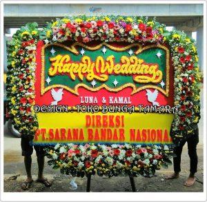 bunga ucapan wedding bekasi
