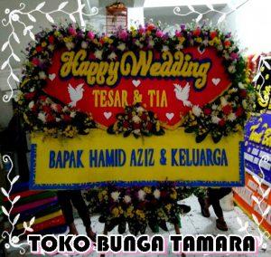 bunga happy wedding bekasi